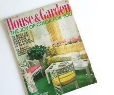 Vintage Magazine House and Garden Decorating by SunshineBooks