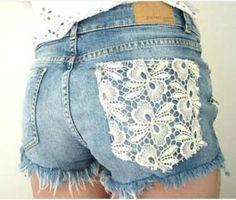 Summer shorts lace embellishment