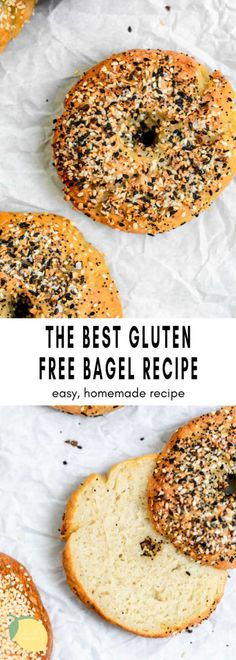 Seriously, these are the BEST gluten free bagels around. They're easy to make, chewy with a crispy crust and even high in protein. With a vegan option, this recipe features almond flour for a delicious flavor and texture. These homemade gluten free bagels are the real deal. #glutenfreebagels #bagels Best Gluten Free Bagel Recipe, Gluten Free Bagels, Gluten Free Recipes For Breakfast, Dairy Free Recipes, Free Breakfast, Vegan Recipes, Banana Oatmeal Recipe, Baked Fish, Almond Flour