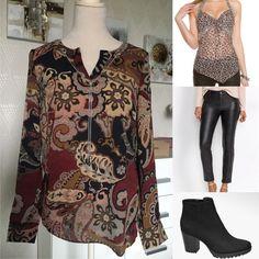 #blouse #nellasshop #byxor #skinnbyxor #skinnyjeans #bonprix #skor #ankleboots #deichmann #animalprint #leopard #leopardprint Outfit Of The Day, Ankle Boots, Skinny Jeans, Blouse, Long Sleeve, Sleeves, Outfits, Shopping, Tops