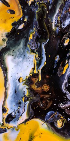 Punch-Hole Wallpapers for Samsung Galaxy Note 10 (Plus) Abstract Pictures, Art Pictures, Mkbhd Wallpapers, Samsung Galaxy Wallpaper, Iphone Wallpaper, Drawing Wallpaper, Yellow Art, Yellow Black, Marble Pattern