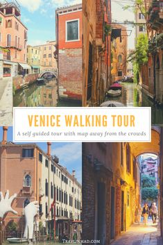 Get off-the-beaten-path in one of the world's most beautiful and visited cities! This 2.5 mile self-guided walking tour of #Venice #Italy takes you  through less-trodden streets over Venetian bridges and canals, to the must-see Venice landmarks without the crowds. Complete with downloadable interactive Google map! | Venice walking tour, walking tour Italy, #slowtravel #Venicewalkingtour