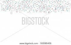 Red and blue confetti banner in national American flag colors. Vector isolated on white background with place for text. Border for celebration American Holiday, Memorial day, Labor Day. Festival decorative frame.