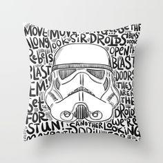 Sketch Stormtrooper Pillow - $27 - Star Wars Home Decor Ideas