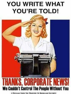Propaganda is one of my favourite marketing disciplines. When you think about it, social media done well is pure propaganda. Nazi Propaganda, Satire, Manufacturing Consent, Ww2 Posters, Freedom Of The Press, Media Bias, Miss Usa, Mainstream Media, Vintage Ads