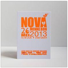 Geboortekaartje Nova