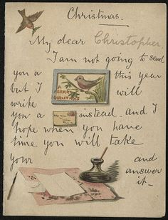 Rebus Christmas card (page 1) | by The Postal Museum