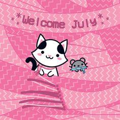 Welcome July!!! (◡‿◡ ♡) – Bem vindo Julho!!! (◡‿◡ ♡)