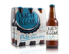Crafty Beggars designed by Curious Design #beer #typography