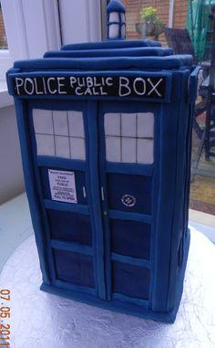 Dr. Who's Tardis, groom's cake