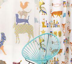 Beautiful fabrics for kids play room..  http://www.decorteamus.com/