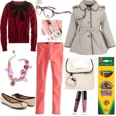 Totally, achingly adorable #BacktoSchool #outfit perfect for a grade-schooler #fashion #contest