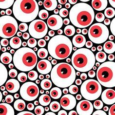 Eyeballs red fabric by petitspixels on Spoonflower - custom fabric