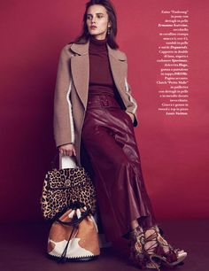 DROMe Leather Bell Trousers featured in IO Donna