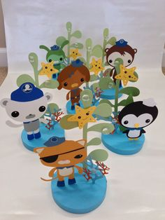 6 Piece Octonauts Birthday Party Centerpiece by DivaDecorations, $60.00