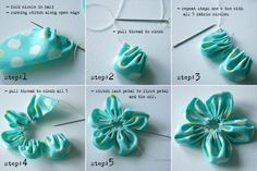 How to make circle flowers