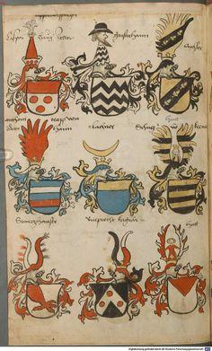 Wappen besonders von deutschen Geschlechtern Süddeutschland ?, 1475 - 1560 Cod.icon. 309  Folio 45v