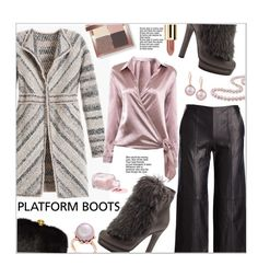 """""""Platform Boots"""" by ceci-alva ❤ liked on Polyvore featuring Vince, Gucci, Alexander McQueen, Bobbi Brown Cosmetics, Belpearl and Miadora"""