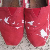 Handpainted Flying Birds TOMS --I would wear these everyday