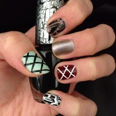 Crackle and criss-crosses :)