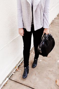 Grey Moto Jacket on