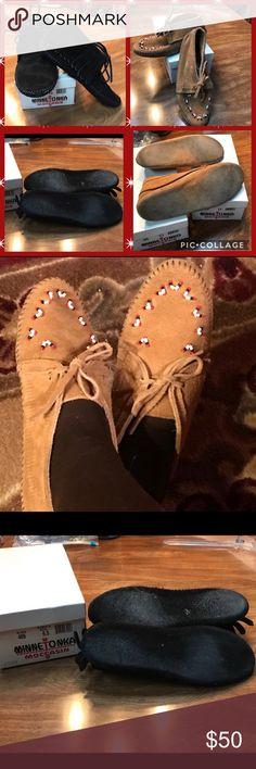 Selling this 2 Pairs❗️ Minnetonka Booties Bundle-almost new❗️ on Poshmark! My username is: l219. #shopmycloset #poshmark #fashion #shopping #style #forsale #Minnetonka #Shoes