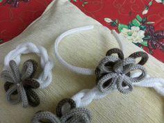 bracciale e cerchietto tricotin