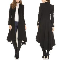 New Womens Button Victorian MIlitary Goth/Steampunk Black Long Coat Jacket Black | Clothing, Shoes & Accessories, Women's Clothing, Coats & Jackets | eBay!