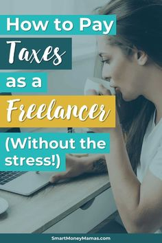 How to Pay Taxes As a Freelancer (Without The Crazy Stress) I started freelancing last year without understanding how I would pay taxes and now I've been panicked as tax season gets closer. This was so helpful and I'll be way more prepared next year! Business Tips, Online Business, Creative Business, Finance Organization, Managing Your Money, Money Management, Business Management, Make More Money, Finance Tips