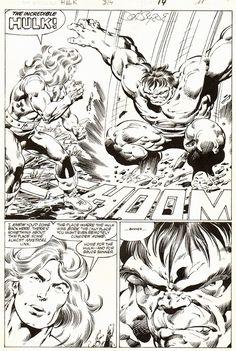 Incredible Hulk #314, page 14 by John Byrne & Bob Wiacek. 1985.