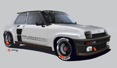 2018 | Renault 5 Turbo 2 Replica Project | Render by Alan Derosier transportationdesign