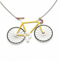 Collier vélo de course jaune - La petite reine