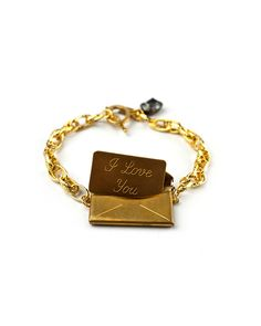 The Vintage Love Letter Bracelet by JewelMint.com, $40.00