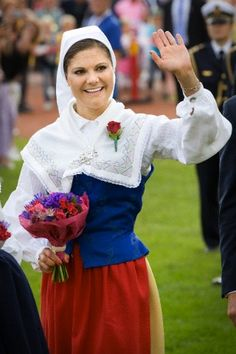 Swedish Crown Princess Victoria during the celebrations of her 36th birthday in Borgholm, Sweden, 14 July 2013.