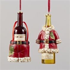 santa suit with wine ornament