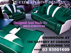Hollywood lounge suite fully sprung seats,backs,arms,and cushions all made on site at deco furniture showroom 100 gaffney st coburge phone 03 93501699 ......website www.decofurniture... we are on facebook ( deco furniture coburg )  www.facebook.com/DecoFurniture.com.au.