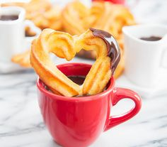 Baked Churros with Chocolate