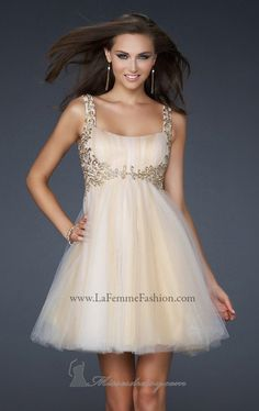 La Femme 17500 Dress