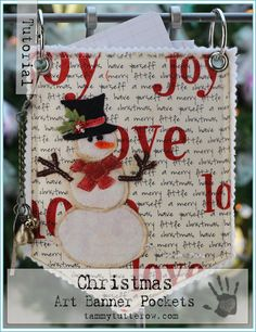 Tammy Tutterow Tutorial | Christmas Art Banner Pockets... (advanced tut)