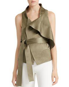 e70575b429 HALSTON HERITAGE Satin Flounce Vest Women - Bloomingdale s