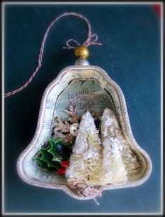 Loving Christmas Wishes Bell Ornament. $10.00, via Etsy.