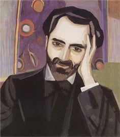 Martiros Saryan (Armerian: 1880 - 1972) - Portrait of the poet Alexander Tsaturyan (1915)