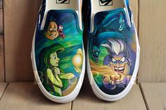 Custom Hand Painted Shoes Little Mermaid by BitsofRouge on Etsy