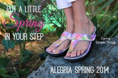 Spring is only two days away! Put a little Spring in your step with the New Spring 2014 Sandals! | Alegria Cherokee Store #AlegriaShoes #Sandals #Spring2014 #CharlotteNC