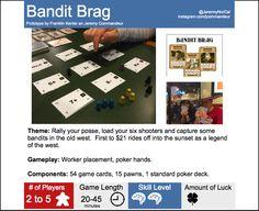 Bandit Brag Prototype Box Back by Franklin Kenter and Jeremy Commandeur