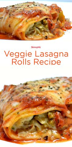 Our Veggie Lasagna Rolls are a great addition to any Italian dinner night. Just be prepared, because there might not be any leftovers! #cleaneating #menuplanning #skinnyms