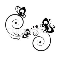 Butterfly Border Black And White Clipart Cards Backgrounds