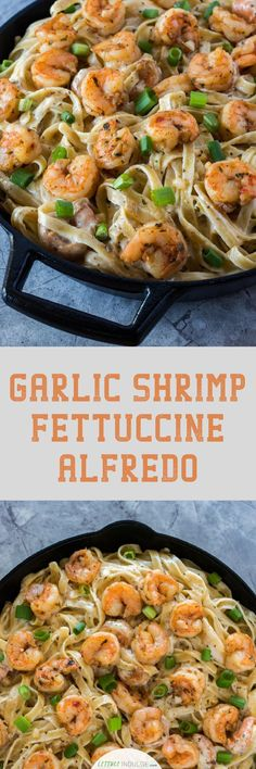 If you're craving a buttery and savory pasta dish with homemade alfredo, check out this recipe. This Garlic Shrimp Fettuccine Alfredo is loaded with fresh seafood flavor and a thick, rich sauce.