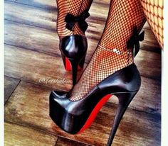 i so want those stockings #stilettoheelslouboutin #stilettoheelsoutfit