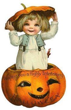 Vintage Halloween wishes.